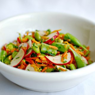 Crispy Asian Snap Pea Salad