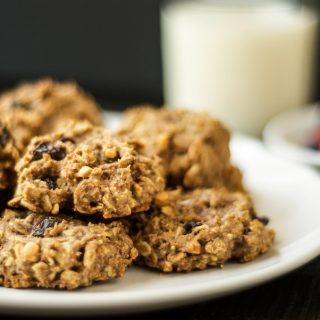 Banana Oatmeal Breakfast Cookies {Vegan}
