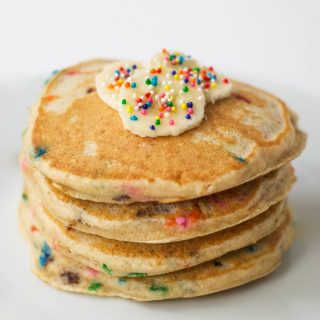 Whole Grain Funfetti Pancakes