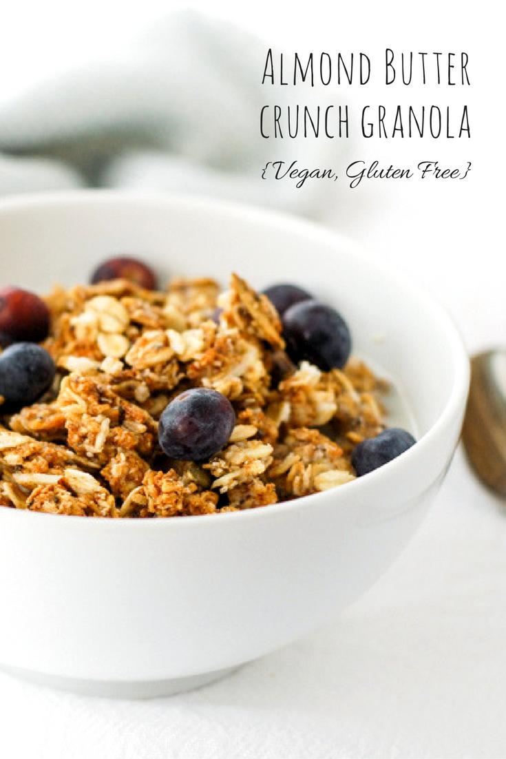 Almond butter crunch granola