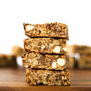 Almond date granola bars