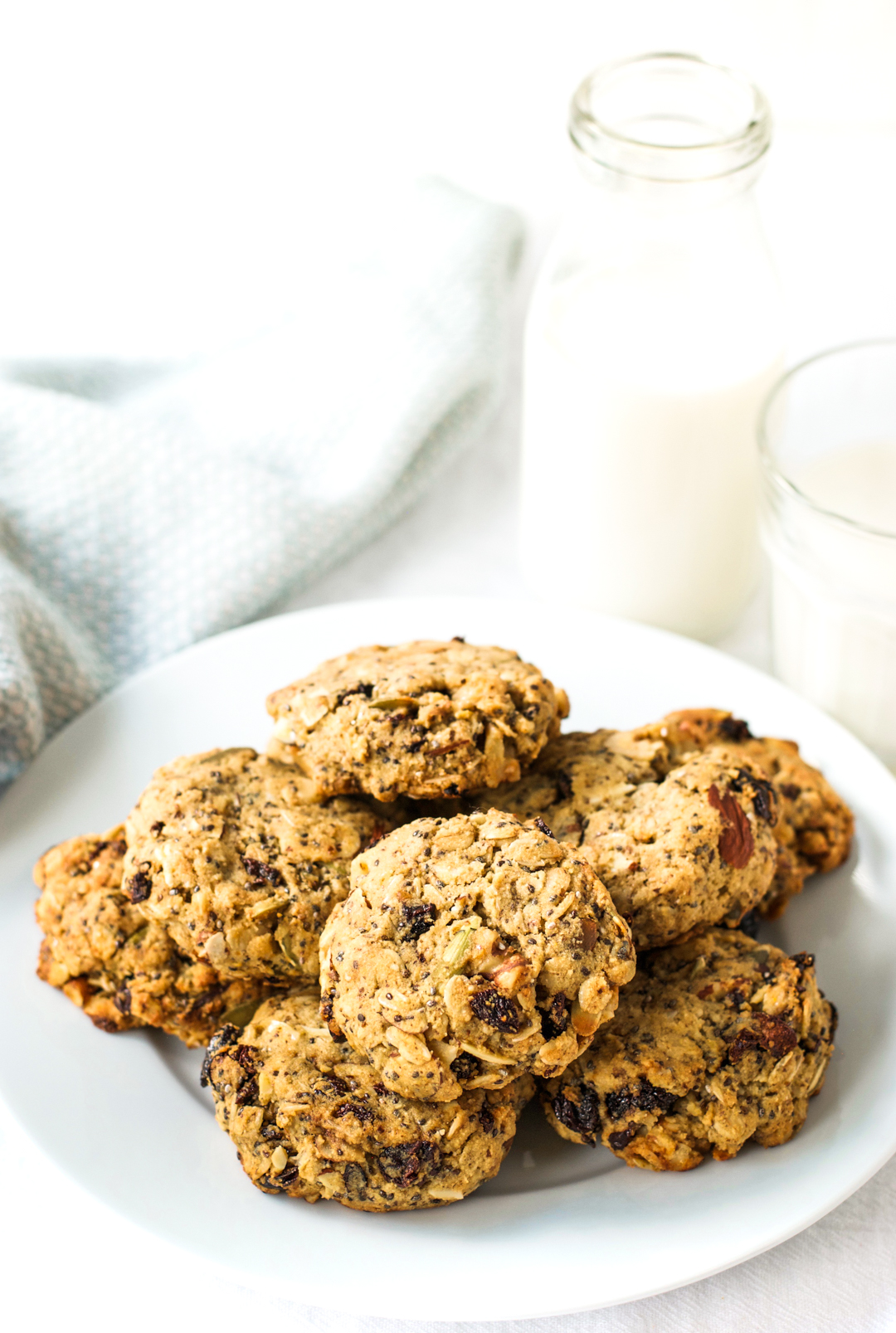 Cherry almond breakfast cookies