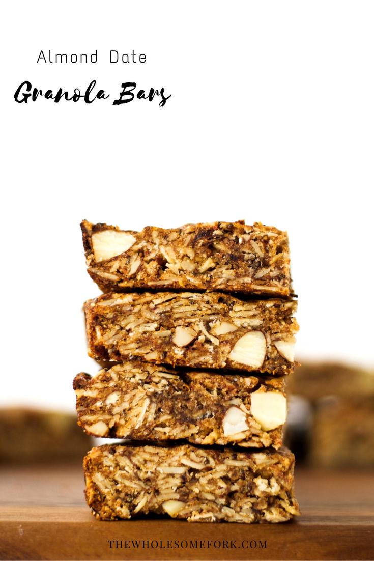 Almond Date Granola Bars {Vegan, Gluten Free}