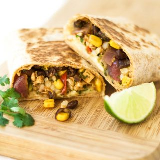 Homemade Freezer Burritos {Vegan}