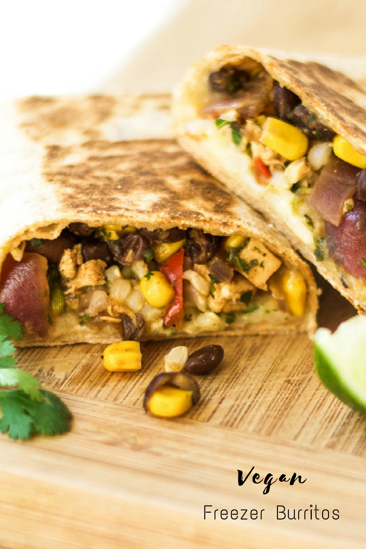 Homemade vegan freezer burritos