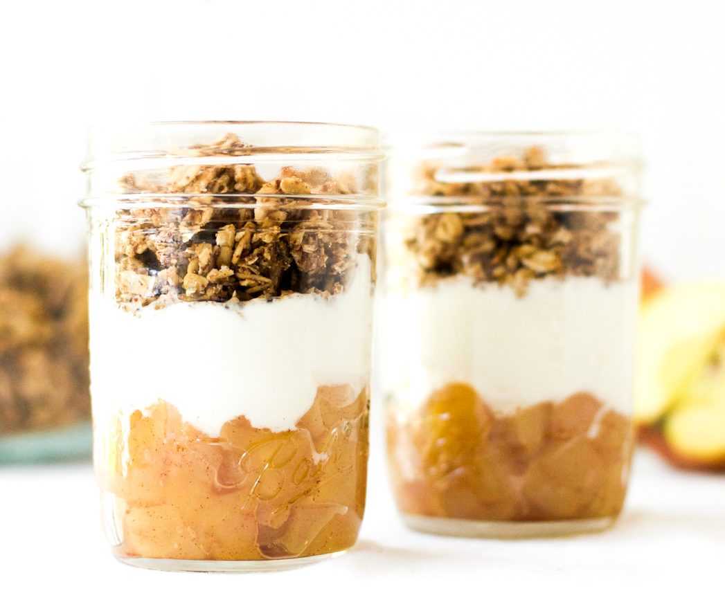 3-ingredient apple crisp breakfast parfaits