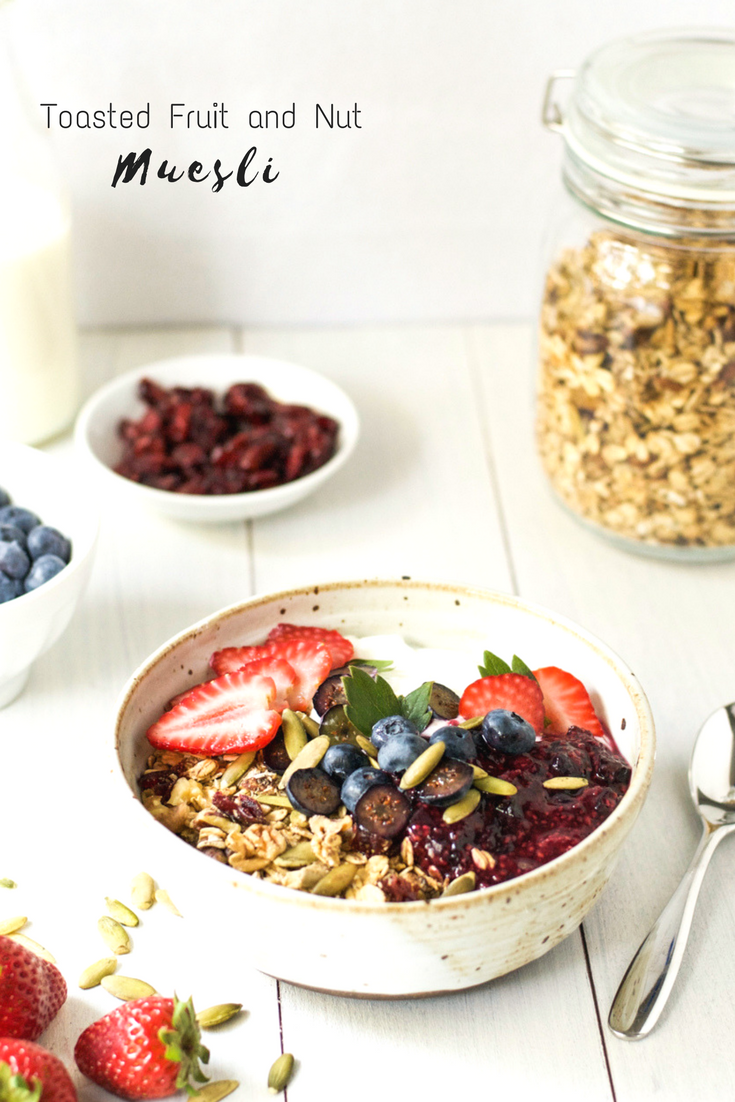 Toasted Fruit and Nut Muesli {vegan}