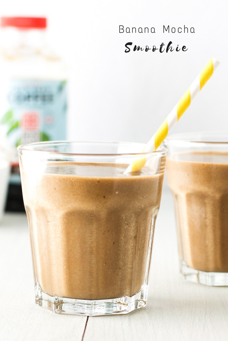 Healthy banana mocha smoothie