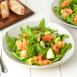 Grapefruit smoked salmon salad