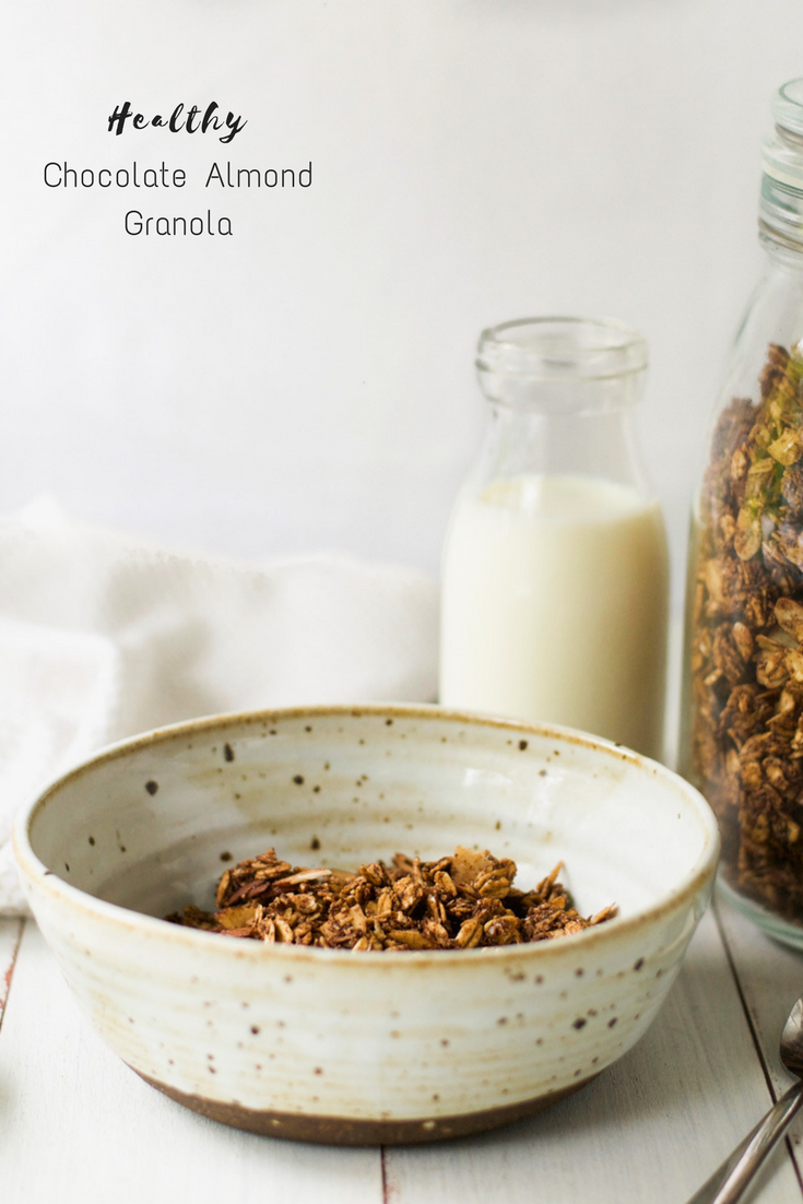 Healthy Chocolate Almond Granola