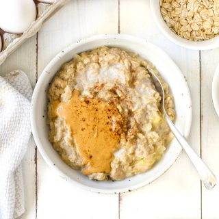 Peanut Butter Banana Custard Oats