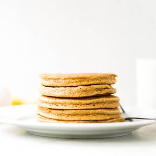 Banana Walnut Blender Pancakes