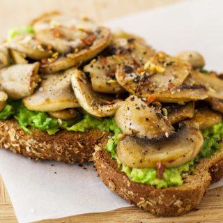 Garlic Mushroom Avocado Toast
