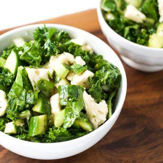 Cauliflower kale detox salad