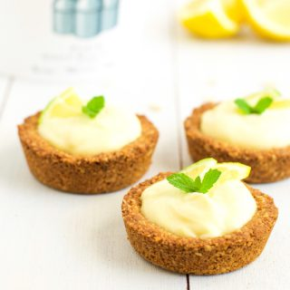 Lemon granola tartlets