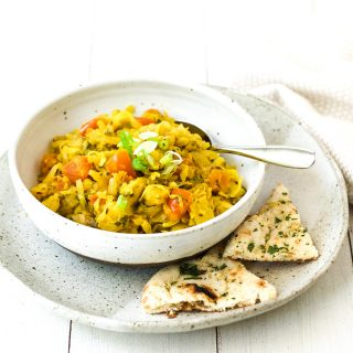Indian cabbage potato curry